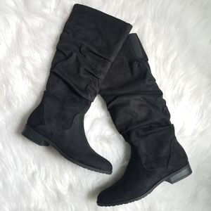 💖 Unisa Tall Black Slouchy Boots size 8 M
